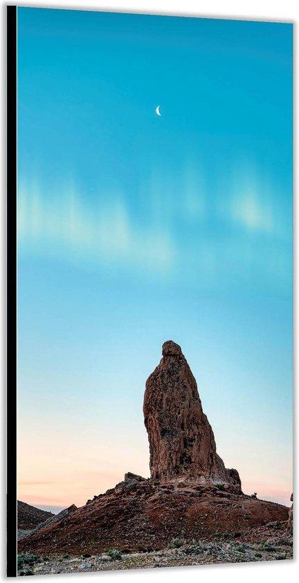Dibond –Steen met Blauwe Lucht– 100x200cm Foto op Aluminium (Wanddecoratie van metaal)