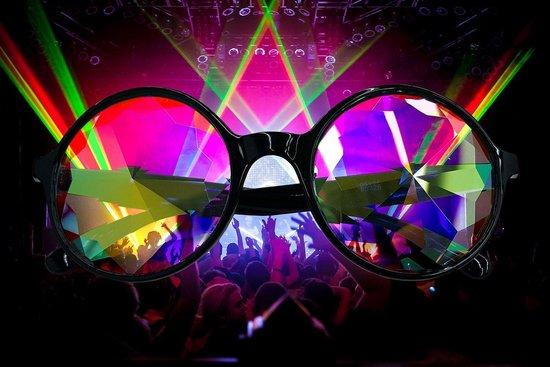 Spacebril – Festival Party Feest Kaleidoscoop bril – Kaleidoscope – Caleidoscoop –