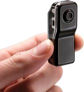 Spy Camera - Action Camera - Verborgen Camera - Plug & play - Incl. Accessoires - Mini Camera Reis camera - Zwart