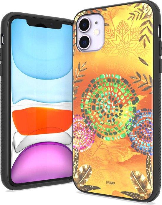 IYUPP iPhone 11 Hoesje Cover Bohemian Festival Geel x Oranje