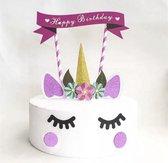 Unicorn taartdecoratie (11 onderdelen voor 1 taart)