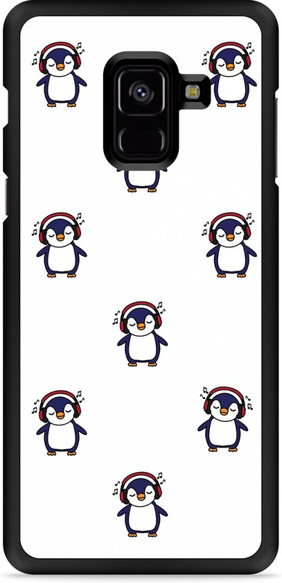 Galaxy A8 Plus 2018 Hardcase Hoesje Chillin like a penguin