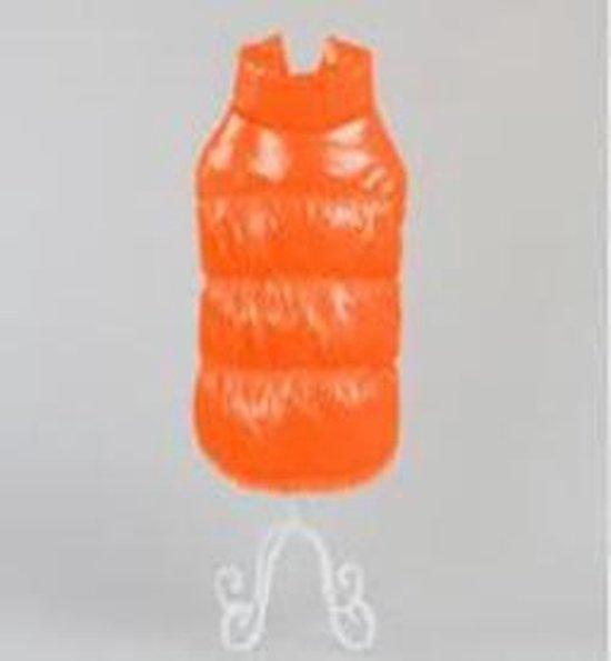 Oranje jas met kraag