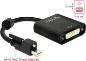 DeLOCK 62639 video kabel adapter 0,25 m Mini DisplayPort DVI-I Zwart