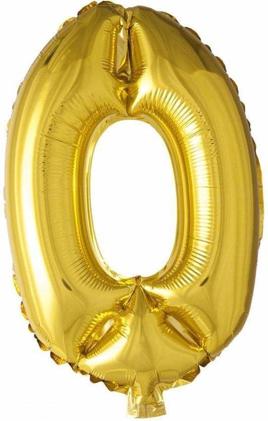Folie ballon gouden 0
