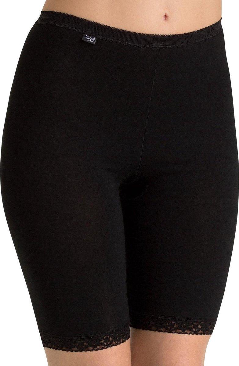 Sloggi Dames Basic Long Slip - Zwart - maat 48