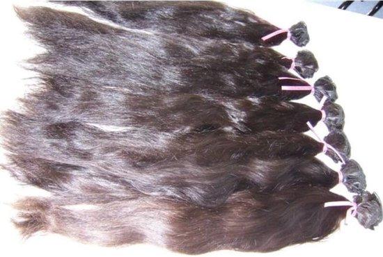 """RealHairExclusive  LETOP PRIJS =PER1BAAN Steil natuurlijk gekleurde handgemaakte weave - Kleur: Natuurlijk bruin, Lengte: 12"""" (30cm)"""