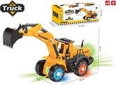 Graafmachine Truck - werkvoertuigen speelgoed - met licht en geluid (36CM)
