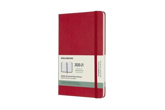 Afbeelding van Moleskine 18 Maanden Agenda - 2020/21 - Wekelijks Horizontaal - Large (13x21 cm) - Scarlet Red - Harde Kaft