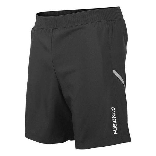 Fusion C3 Run Shorts Zwart Unisex XXL