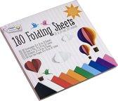 Origami papier | Gekleurd papier | 20x20 cm | 10 kleuren | Vouwblaadjes | Knutsel papier | Knutselen | Hobbypapier | 180 vellen