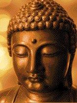 MyHobby Borduurpakket –  Gouden Boeddha 30×40 cm - Aida stof 5,5 kruisjes/cm (14 count)