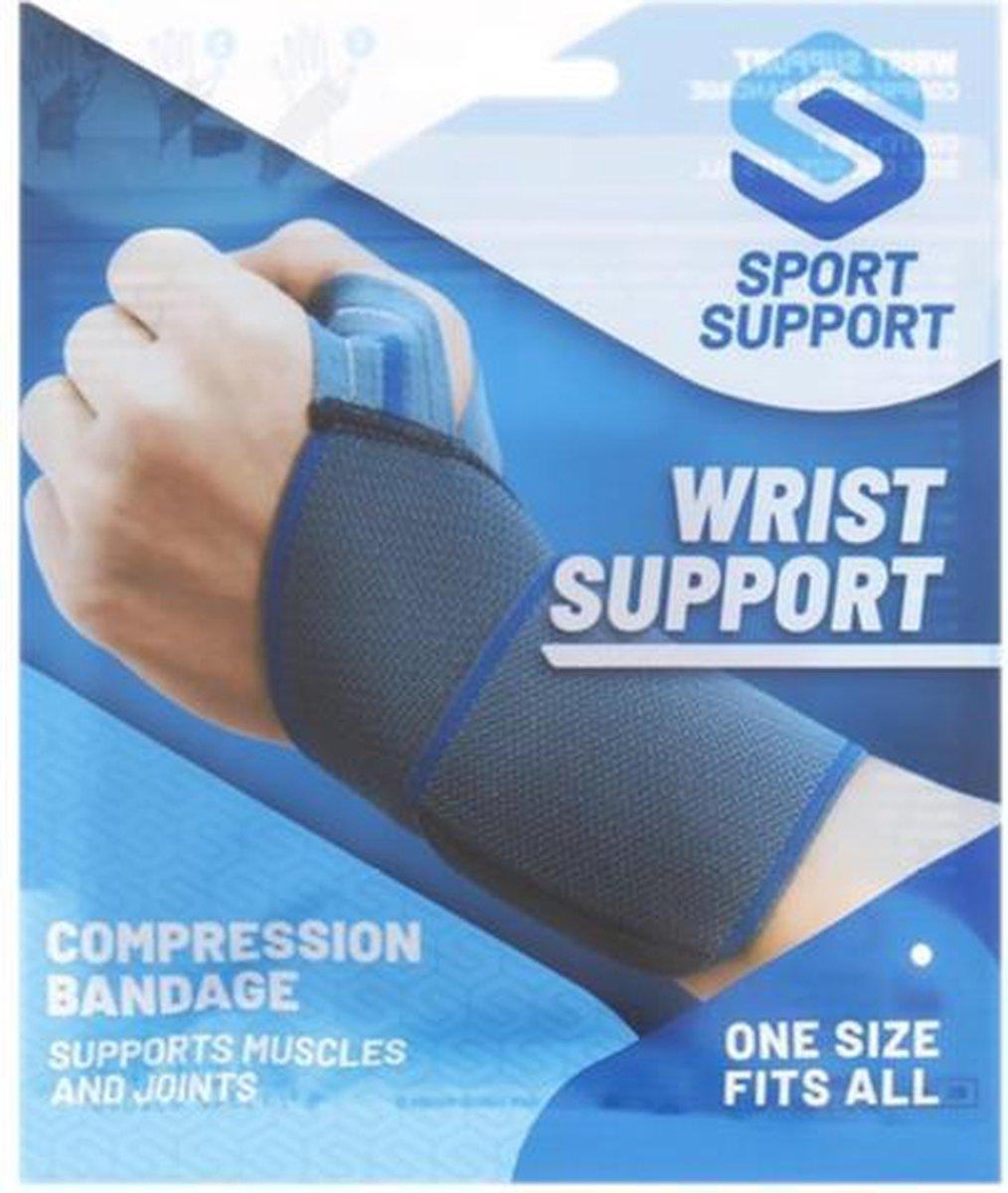 Wrist support Polsbandage | Compressie | steunt spieren en gewrichten | One size | Unisex