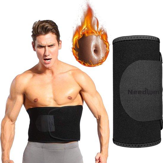 Needum ® Zweetband voor de Buik- Sweat Belt - Unisex – Man/Vrouw – Zwart