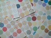 Set van 165 sluitstickers - Ronde stickers