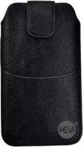 Nokia Lumia 535 Zwart Insteekhoesje met riemlus en opbergvakje