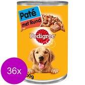 Pedigree Blik Pate Rund - Hondenvoer - 36 x 400 g