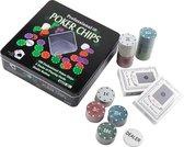 Poker Set - Texas Hold Em- speelkaarten en fiches