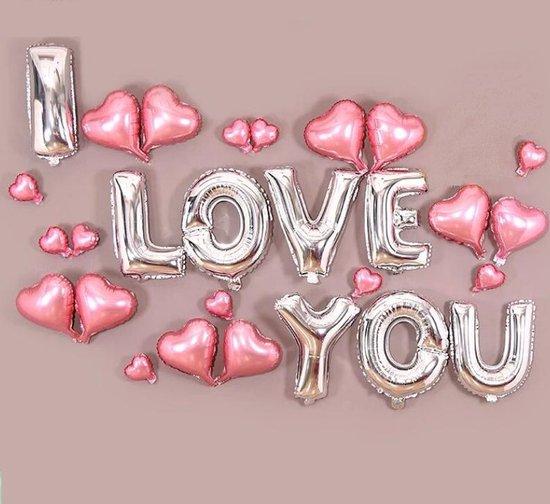 Ballonnenset I Love You   28-delig   Valentijnsdag   Liefde   Hartjes   Moederdag