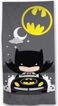 Batman Polyester Strandlaken - 70 x 140 cm - Grijs