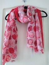 Rode sjaal Emma