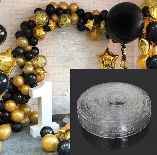 WiseGoods Ballonnen Boog Strip - Ballon Keten - Ballon Slinger - Ballonnen Strip - Balloon Garland - Transparant - 5m