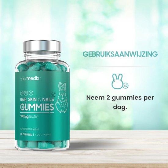 Gummies voor Haar, Huid & Nagels - Versterkende hair vitamines voor het haar - 60 Gummies