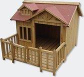 WorldPet Hondenhok incl. veranda 93.5 x 99 x 78 cm