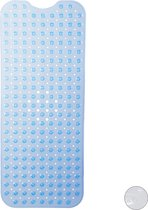 relaxdays antislip douchemat met zuignappen - badmat - anti slip mat - voor in bad - XL blauw