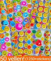 Smiley Stickers 48 Vellen Beloningsstickers voor Kinderen | 1350+ 3D Foam KMST007