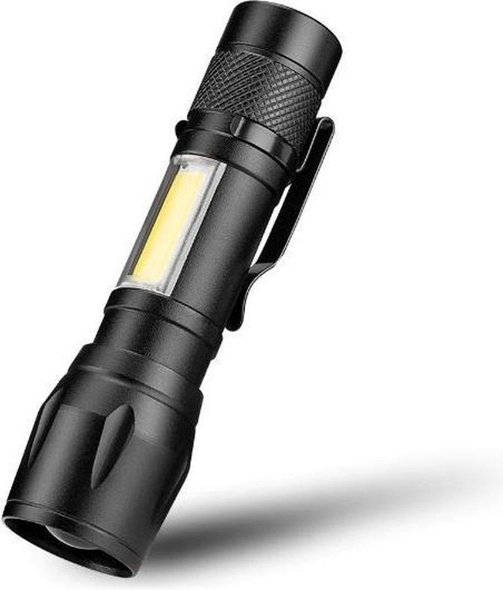 LED Zaklamp COB - Waterdicht   Inzoombaar