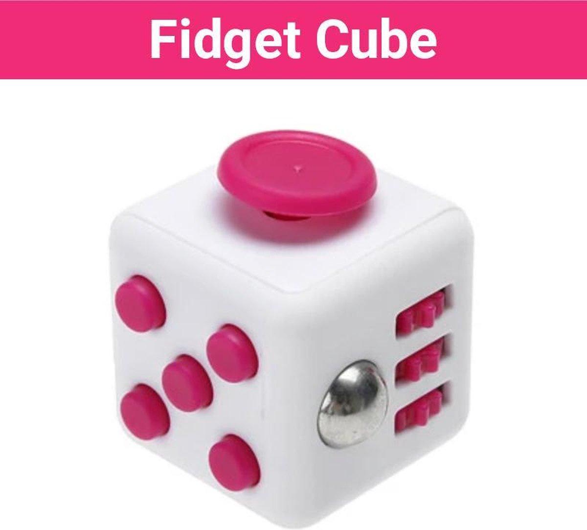 """Fidget Cube """"Wit-Roze"""" - Friemelkubus - Anti Stress Speelgoed Meisjes - Fidget Toys - Hoogsensitiviteit Kinderen"""