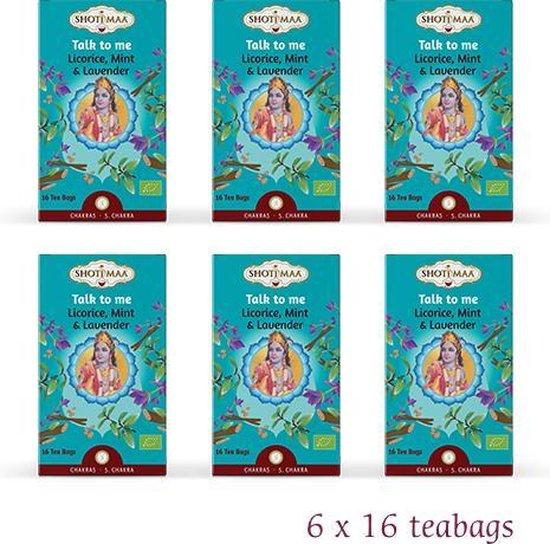 "Shoti Maa Chakras ""Talk To Me-Je Parle"" Zoethout Munt Lavendel BIO (6 doosjes thee)"