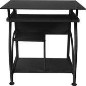 Bureau laptop computertafel - ruimtebesparend - 70 cm x 50 cm - zwart