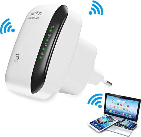 Wifi Repeater - Wifi Versterker Stopcontact - Wifi Repeater - Draadloos - Overal internet