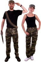 Leger & Oorlog Kostuum | Camouflage Broek Oerwoud Commando | Maat 44-54 | Carnaval kostuum | Verkleedkleding