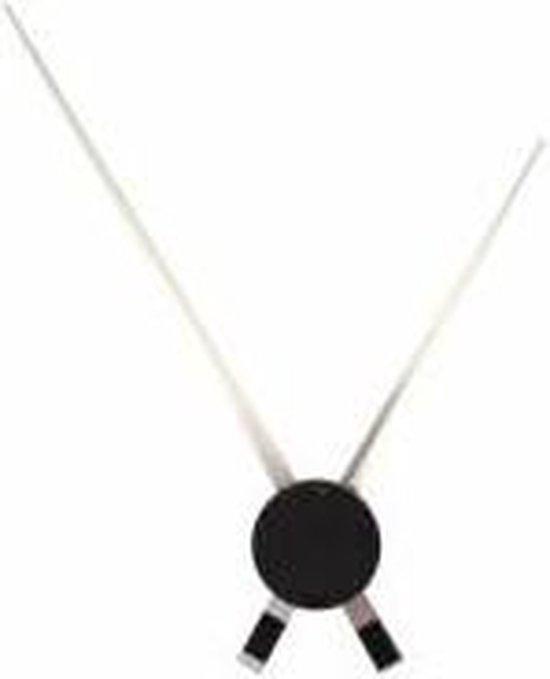 NeXtime Hands - Klok - Rond - Aluminium - Ø85 cm - Zwart