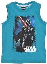 "Star Wars - Singlet - Model ""Darth Vader Salutes You!"" - Turquoise - 116 cm - 6 jaar - 100% Katoen"