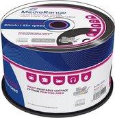MediaRange CD-R 700 MB Inkjet Printable Black Vinyl 50 stuks
