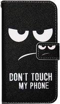 ADEL Kunstleren Book Case Portemonnee Pasjes Hoesje voor Samsung Galaxy A70(s) - Don't Touch My Phone