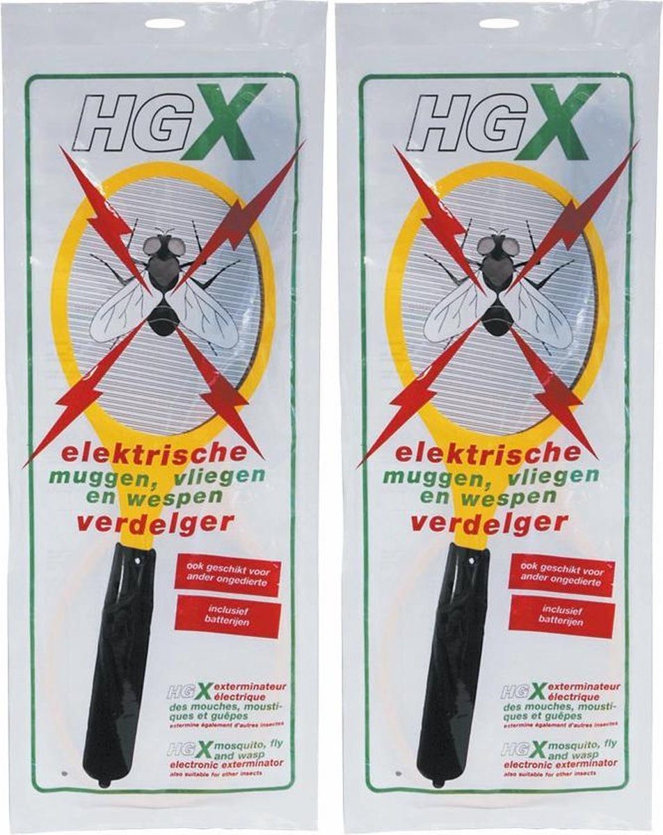 HG X Muggenverdelger Vliegenverdelger Wespenverdelger   Elektrische Vliegenmepper   2 Stuks !