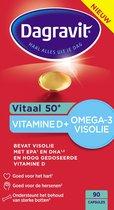 Dagravit Vitaal 50+ Vitamine D & Omega-3 Visolie Voedingssupplement - 90 tabletten
