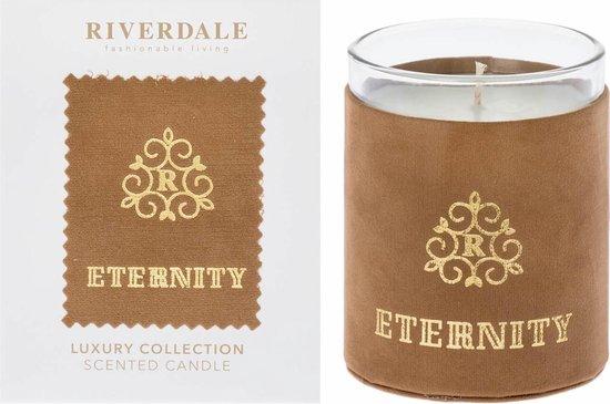Riverdale Geurkaars Eternity cognac 11cm