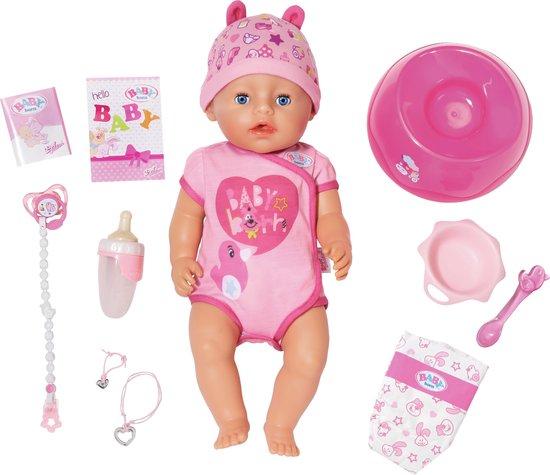 BABY born® Soft Touch Meisje Roze - Interactieve Babypop 43cm