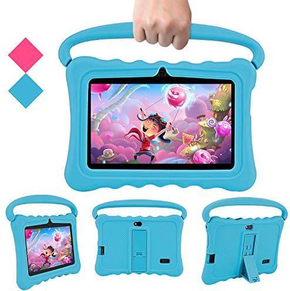 Lipa Veidoo kinder tablet Blue 7 inch - Met spellen software - Play store - Ouder bescherming - Speciaal IPS scherm met bescherming ogen - Met bumper