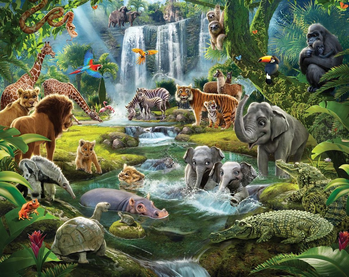 Behang Jungle Adventure Walltastic - kinderkamer - 305 x 244 cm