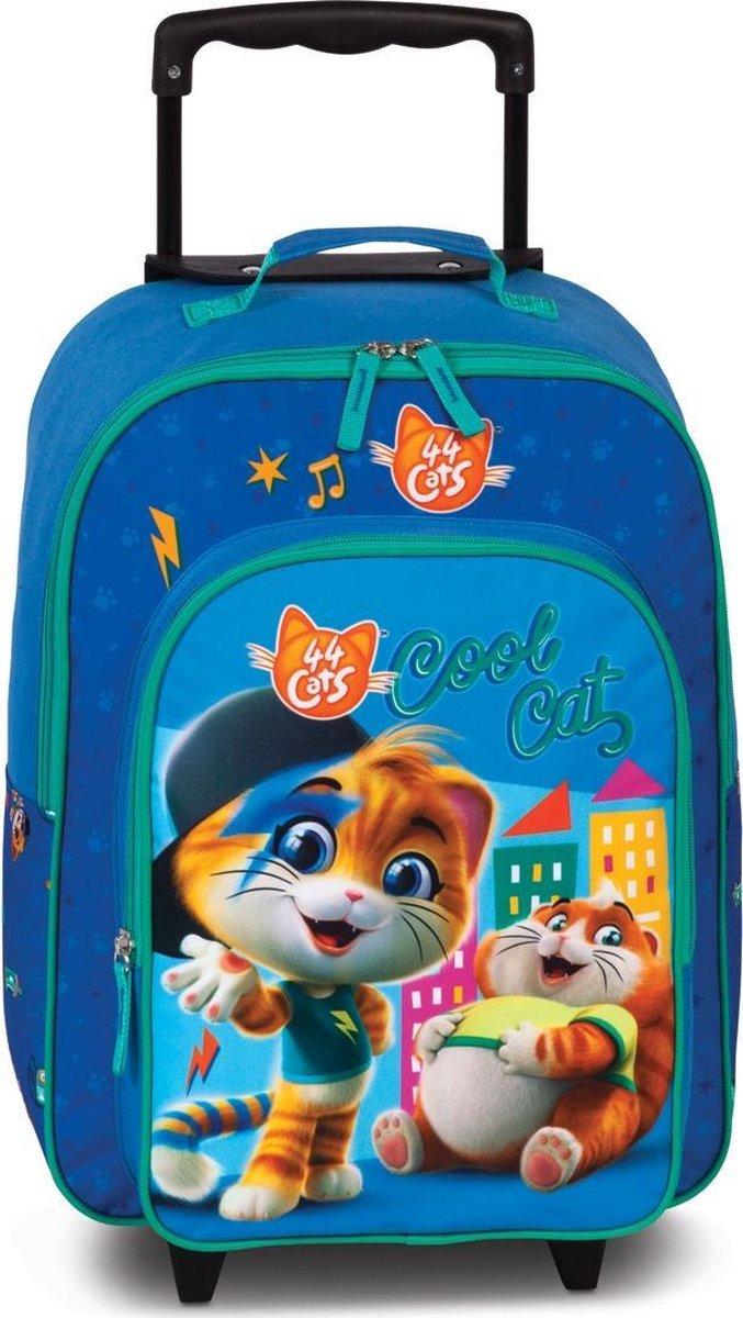 44 Cats Cool Cat - Trolley - 42 cm - Blauw