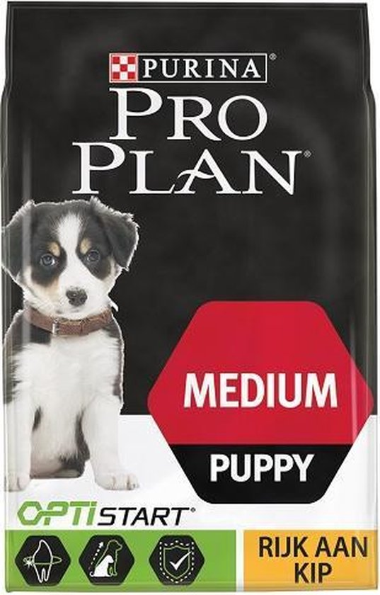 Pro Plan Medium Puppy - Hondenvoer Kip met Optistart - 12 kg