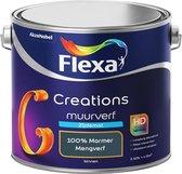 Flexa Creations - Muurverf Zijde Mat - Mengkleuren Collectie- 100% Marmer - 2,5 Liter