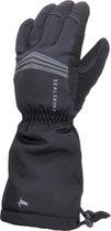 Sealskinz Waterproof Extreme Cold Weather Reflective Gauntlet Fietshandschoenen - Maat L - Zwart